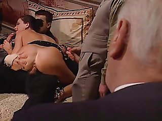 Hot euro brunette foursome anal facial VDV