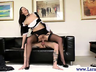 Mature stockings sucking dick before plowed
