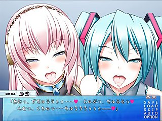 Turquoise idol is my smegma cleaner - Luka & Miku (Kiss)