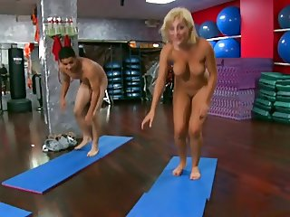 Lexi Swallow naked yoga
