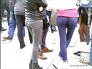 Great Teen ass leggings and thong