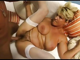 Renate Fucking And Squirting On White Sofa BVR