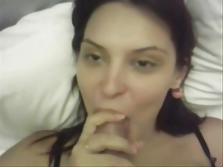 Spanish girlfriend fucked at home