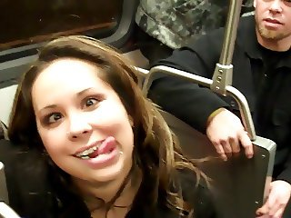 Lesbian New Year Make Out In Public Bus