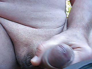 65 yrold Grandpa #11 mature penis close closeup wank uncut