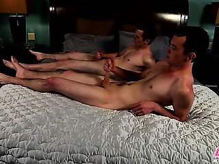 Twink twins Casey and Cody share a brotherly tug