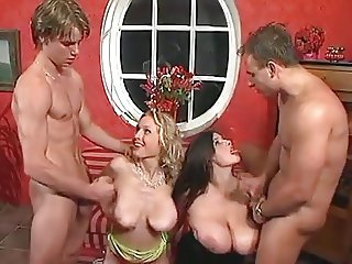 Big Natural Tits Foursome
