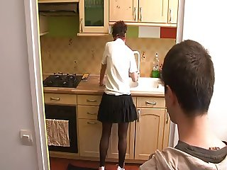 Fucking NOT His Mother in Kitchen BVR