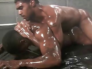 Black oil wrestling preview (short but hot)
