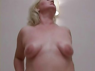 Cute plump blonde milf