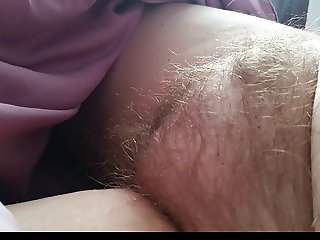 wifes tired matted down hairy pussy early morning