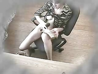 NOT My kinky sister masturbates at her dek. Hidden cam