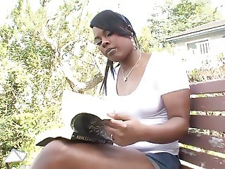 sexy ebony fucks a very thick cock