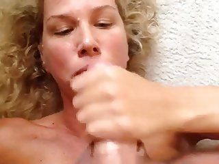 MILF Handjob #9 On The Floor