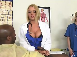 Three MILF Doctors Offering Oral Cock Consult