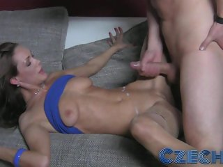Czech - Sexy MILF impressed with geeks cock