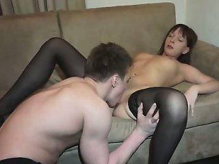 Nympho courtesan taking big cock in all her wet fuck holes