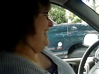 BBW Handjob #9 In the Car, Married Sneaky Mature Wife