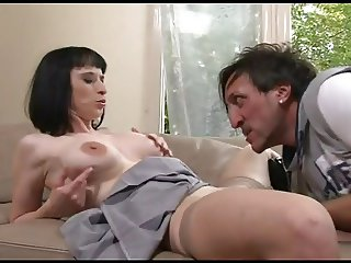 FRENCH MATURE 36 anal brunette mom milf and a younger man