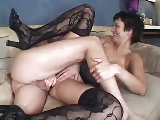 Mature prostitute gets brutally fucked on my couch
