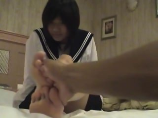 Japanese School Girl Foot Worship Tickling