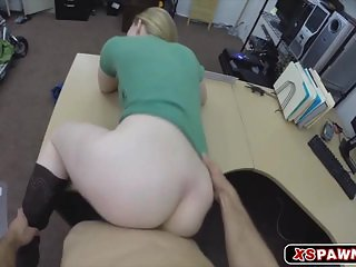 Horny sweet chick with a huge hard cock