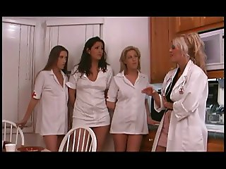 Mature stud bangs slut in nurse's uniform