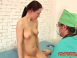 perky sexy brunette at the doctors