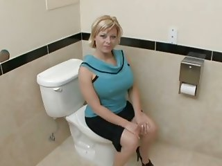 big tits in the bathroom