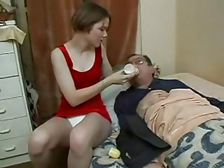 young lady fucks not her sick uncle