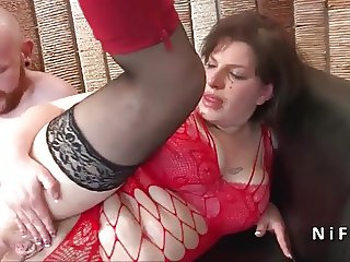 Squirt french bbw hard fucked and sodomized