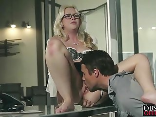 Samantha Rone has passionate office sex