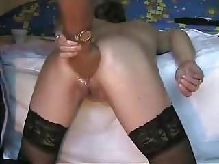 Deep ass fisting my horny bitch. Amateur extreme
