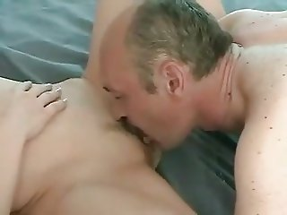 Moustache older guy fucks younger