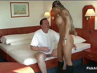 German 18yr old Skinny Teen in real UserFick with older Man