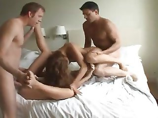 Young Sluts Getting Hammered In A Hotel Bed Side By Side