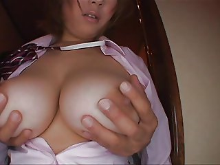 Busty asian fantastic fuck and blowjob