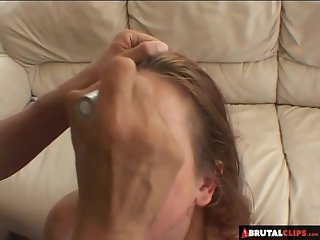 BrutalClips - Stepdaddy Deepthroating Me