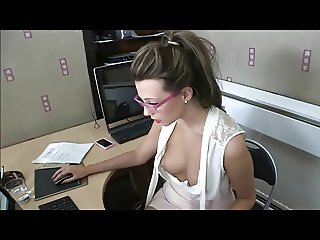 Linda is your new downblouse prone secretary
