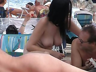 Sexy boobs at Cap D Agde Nude beach