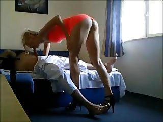 Old guy fucks hot tall escort on hiddencam