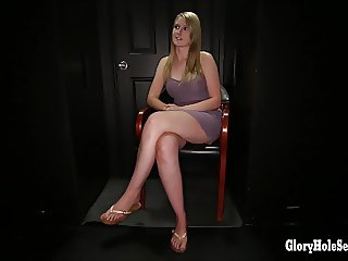Gloryhole Secrets Hot young summer swallows cum