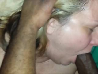 Horny mature eating a black shaft for dinner