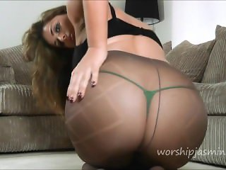 Pantyhose tease big ass