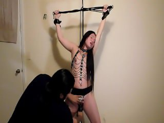 Tied up bondage orgasm+V-log