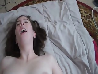 Riding Cowgirl Orgasm With Cum On Tits