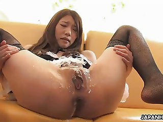 Asian maid has a fuck with her randy customers