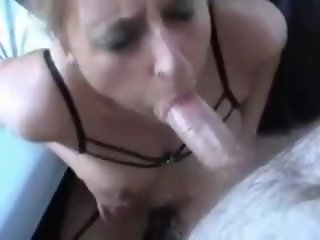 Hot blonde in stockings gets her ass fucked and gags on the swallow