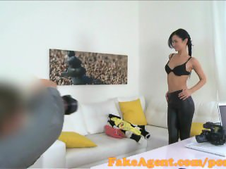 FakeAgent Skinny amateur sucks and fucks in office