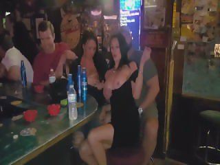 Real Hotwife Milf Public Bar Flashing Strangers, Sucking, and Fucking